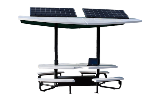 First Of Its Kind SolarPowered Patio Tables Now Available For - Solar picnic table